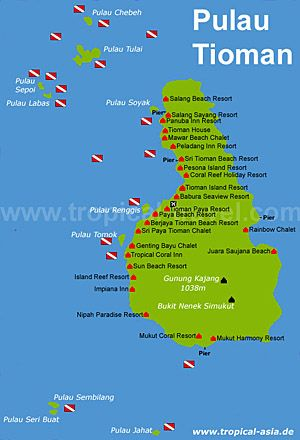Pulau Tioman Karte