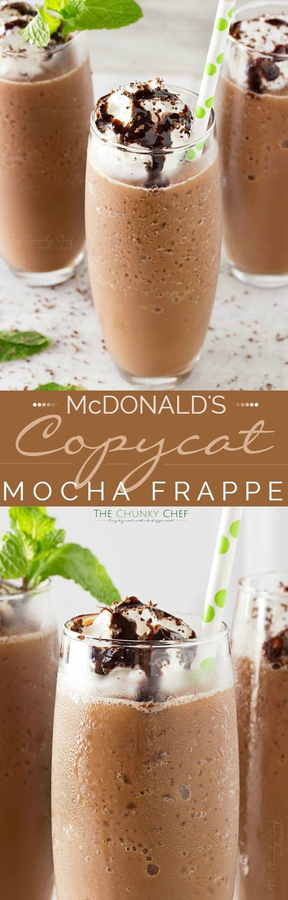 Copycat Mocha Frappe | Just 4 ingredients! Forget spending your money on a frozen coffee drink, make your own mocha frappe at home!!