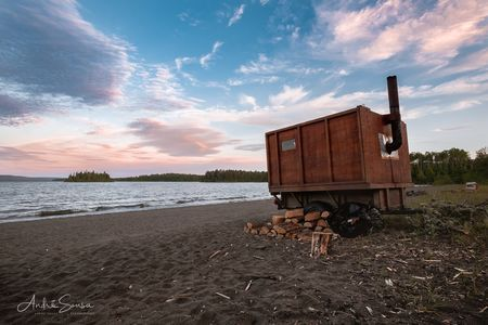 Camping With a Sauna Photo by André Sousa -- National Geographic Your Shot