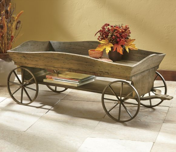 Wagon Coffee Table From Through The Country Door