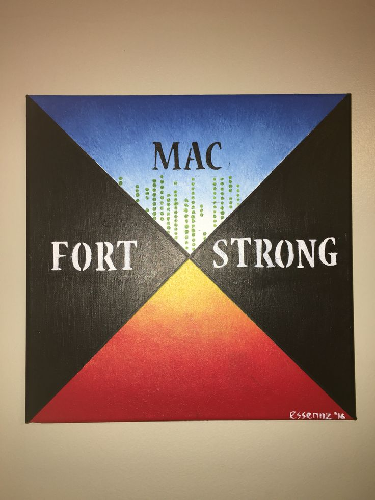 """Fort Mac strong is now available on my Etsy website. All proceeds go towards helping the people of Fort McMurray rebuild.   12"""" x 12"""" 20"""" x 20"""" 24"""" x 24"""""""