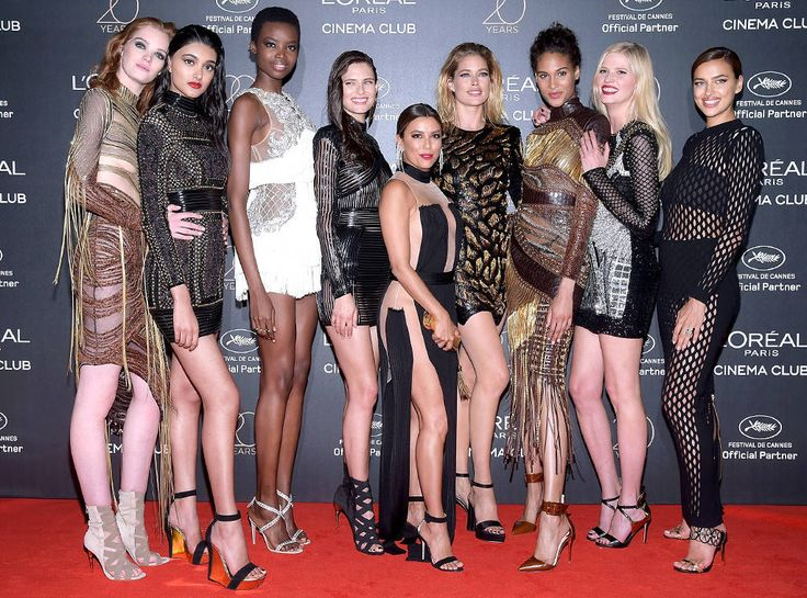 Eva Longoria, Irina Shayk & Models from The Big Picture: Today's Hot Photos  Model mayhem! The actress is surrounded by a bevy of beauties during the20th Birthday Of L'Oreal at the 70th annual Cannes Film Festival.