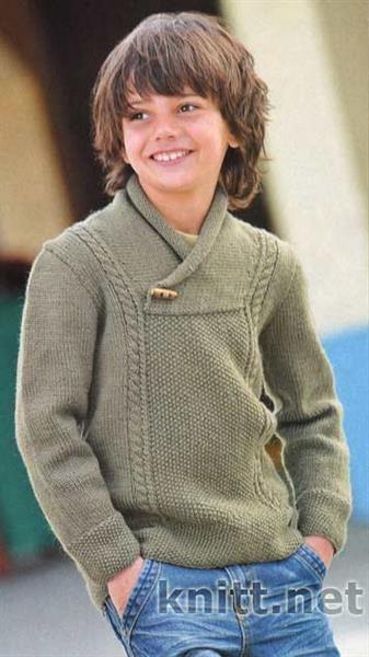 Связать свитер для мальчика модный