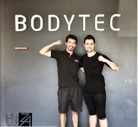 Personal Trainer Kyle with Mr South Africa Habib Noorbhai at BODYTEC Century City. #Personaltrainer #Coach #Motivation #Centurycity #Fitness #Trainer #EMS #Strengthtraining #MrSouthAfrica #Bodytecsa