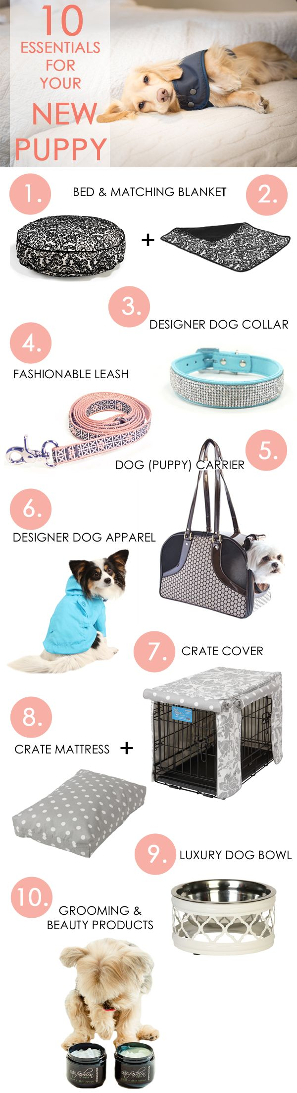 Welcome your new puppy with designer dog products from FelixChien.com! Spoil your new friend with everything from luxury dog beds to designer dog carriers!