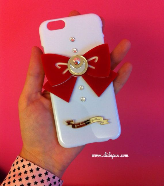 Sailor moon bow white iphone 6 case by didepux on Etsy