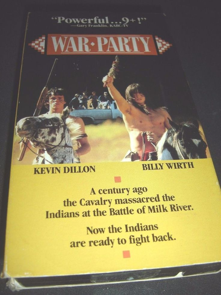 War Party HBO VHS (1988) Billy Wirth Kevin Dillon ~ 026359021732