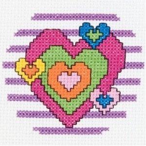 My 1st Stitch Counted Mini Cross Stitch Kit, Heart
