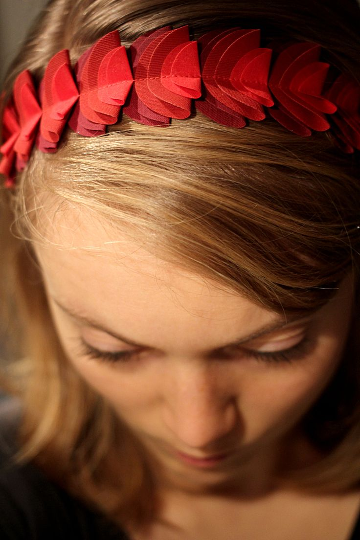 Red fabric hairband