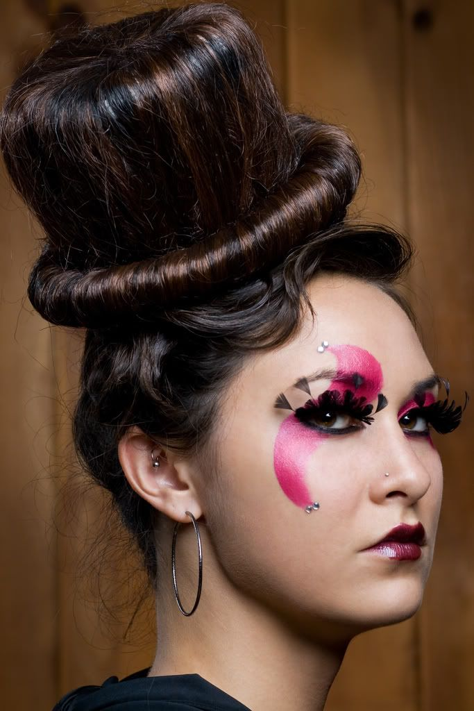 The hair or the make-up? Hmmm..love them both.