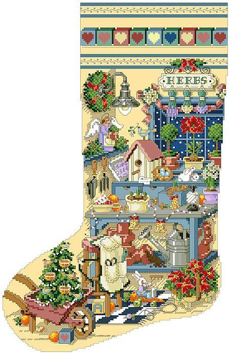 christmas stocking cross stitch pattern books