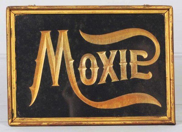 Circa 1900 Petite Debossed Cardboard Moxie Sign