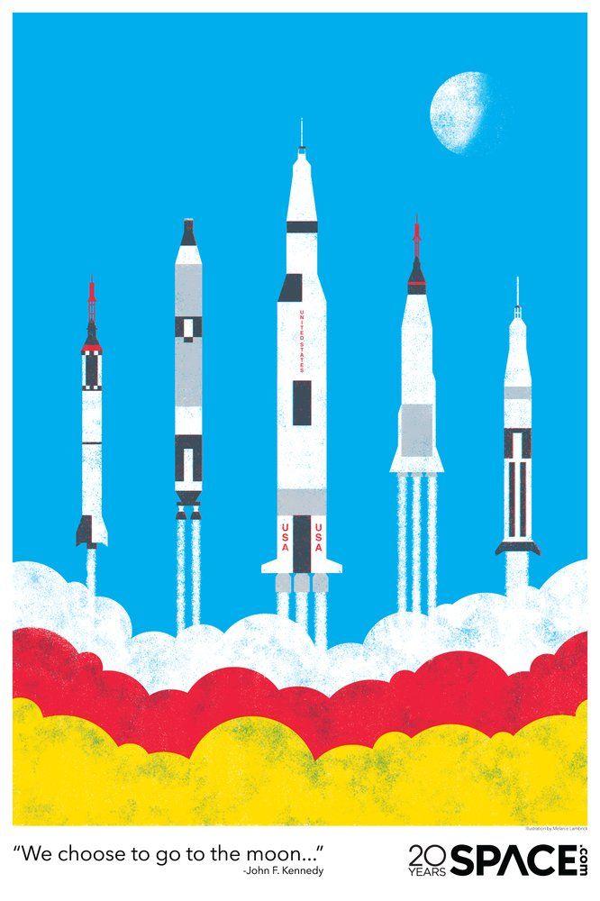 Debuts New Series Of Free Posters To Celebrate Nasa Milestones