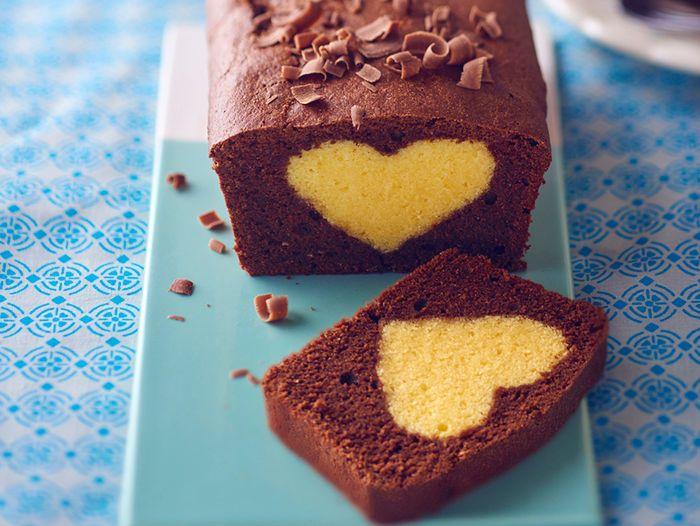 Découvrez la recette Cake au cœur blond sur cuisineactuelle.fr.