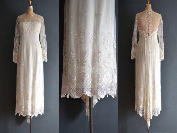 Ezra / 80s wedding dress / 1980s wedding dress by BreanneFaouzi