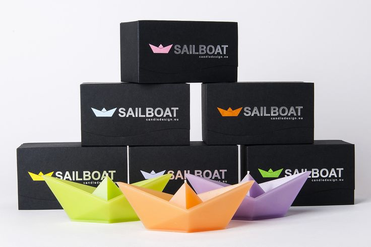 Floating candle Sailboat + design packaging