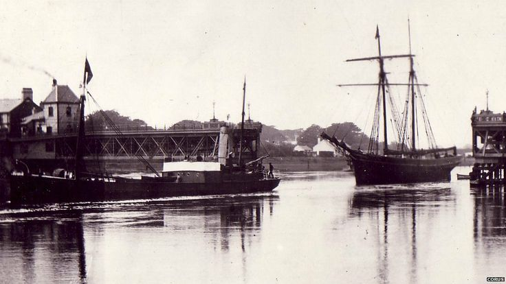 Tall ships were once a common sight on the Dee estuary - Tall ships could return to a historic former dock at Connah's Quay in Flintshire if the county council is successful in a bid for Welsh government funding. This undated photograph shows a tall ship on the Dee estuary.