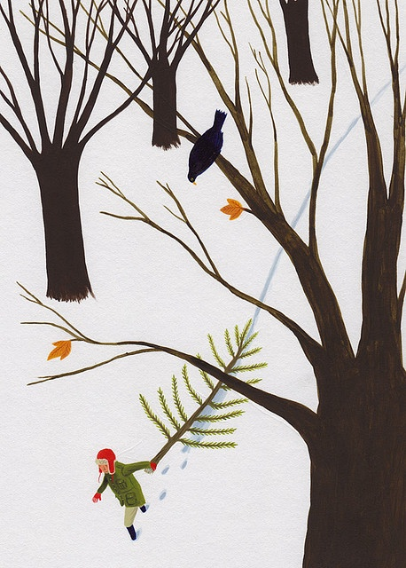 Holiday card illustration by David Dean