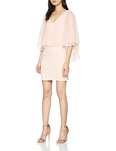 55b11cdaa1 Vila Clothes Visays S/l Dress/DC Robe Femme Rose Peach Blush 38 (Taille  Fabricant: Small)
