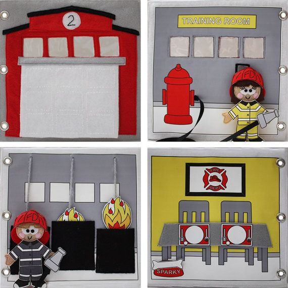 Firehouse No. 2 Quiet Book Pattern by CopyCrafts on Etsy