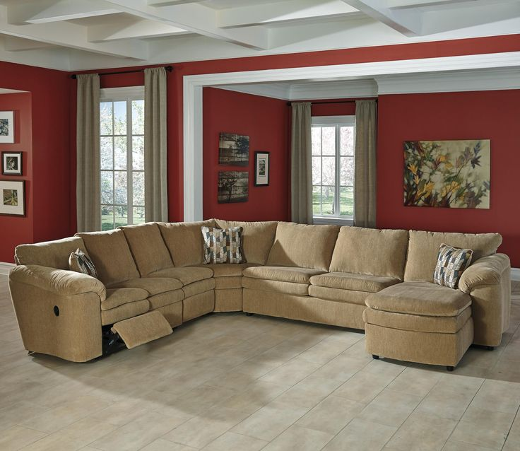 Coats Casual Contemporary 5 Piece Reclining Sectional With