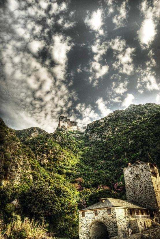 Simonopetra Monastery, Mount Athos, Macedonia,Greece