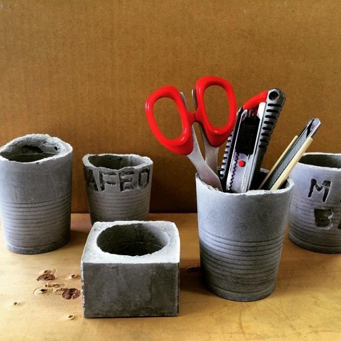 モダンでメンズライクな雑貨に☆コンクリート素材で作るセメントDIYでお洒落インテリアにしよう | WEBOO[ウィーブー] おしゃれな大人のライフスタイルマガジン