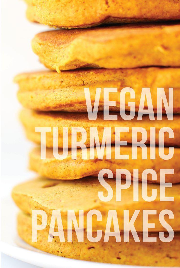 Vegan Turmeric Spice Pancakes (gluten-free, no banana!)