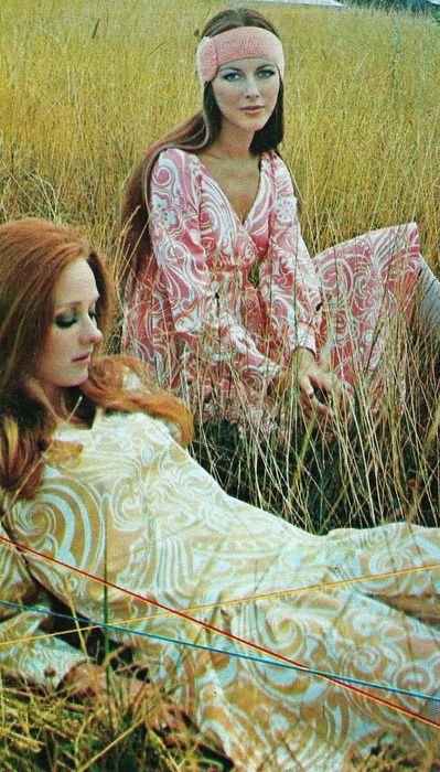 French Elle, 1969. Boho Hippie 60s fashion. I love the colour use and the pattern is to die for.