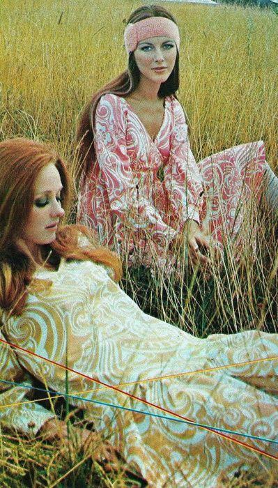 French Elle, 1969. Boho Hippie 60s fashion