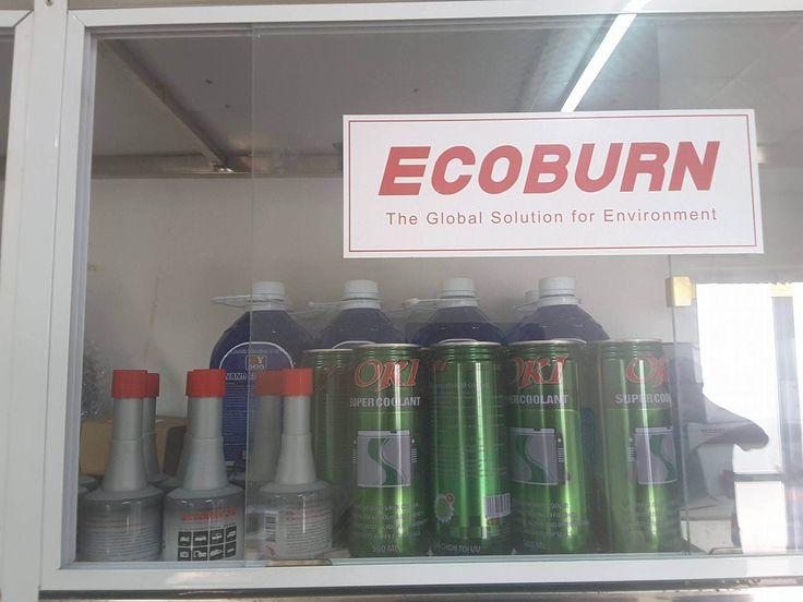 Sản phẩm Ecoburn được trưng bày tại Gara - 0987698844-0914292327