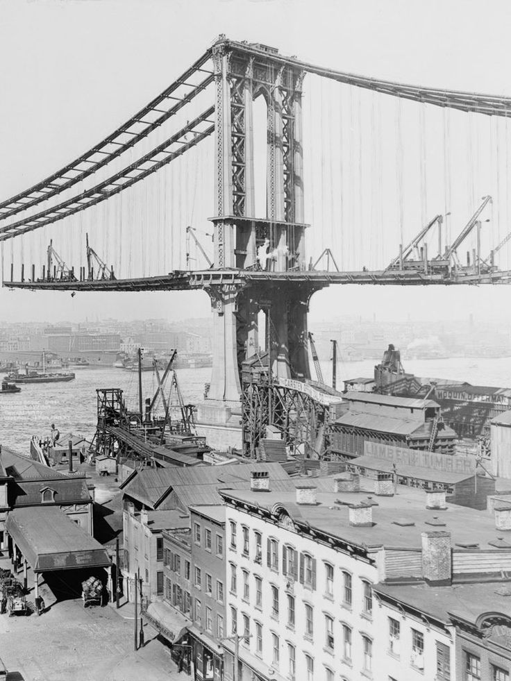 Building of the Brooklyn Bridge