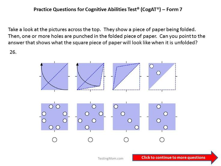 CogAT Form 7 practice questions for 1st to 2nd grade | Cognitive ...