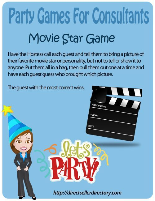 direct sales party game - movie star game
