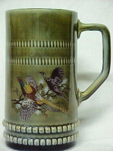 Pheasants Irish Porcelain Beer Tankard Mug Stein Cup ...