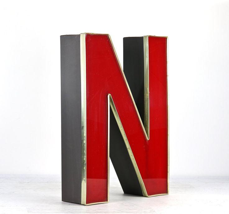Metal Letter N, Rustic Letters, X-Large Metal Letter, Industrial Letters, Metal Letters For Wall by HuntandFound on Etsy