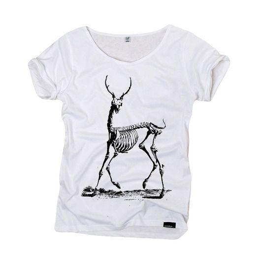 bluzki - t-shirty - damskie-bones - organic t-shirt