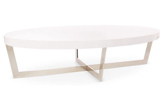 Oyster Coffee Table, White | $360
