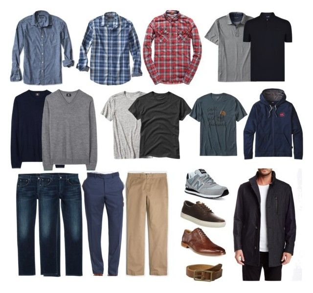 """""""Men's basic casual and business casual wardrobe capsule"""" by wrymommy ❤ liked on Polyvore featuring New Balance, Citizens of Humanity, Banana Republic, Nordstrom, J.Crew, Timberland, Cole Haan, Scotch & Soda, Paul Smith and Gap"""