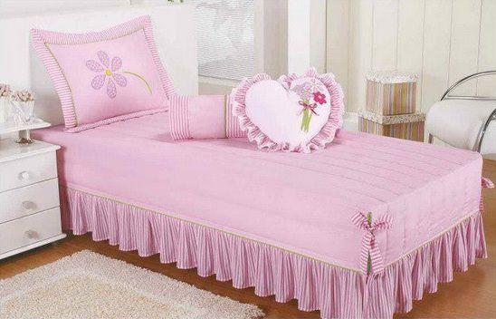 cubrelecho rosado