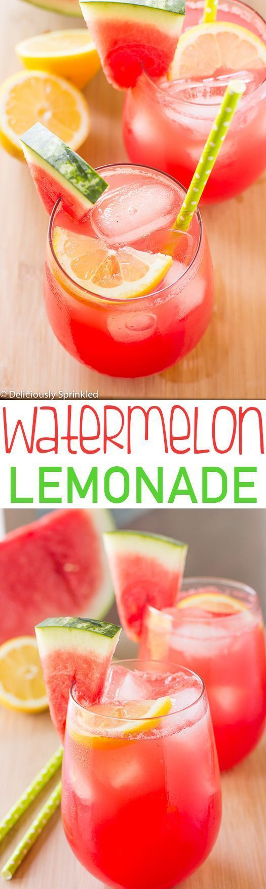 Watermelon Lemonade-easy to make and it's the perfect summer drink!