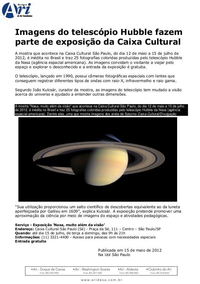 curiosidades ocultas: Telescopio hubble IMAGEM REAL PDF