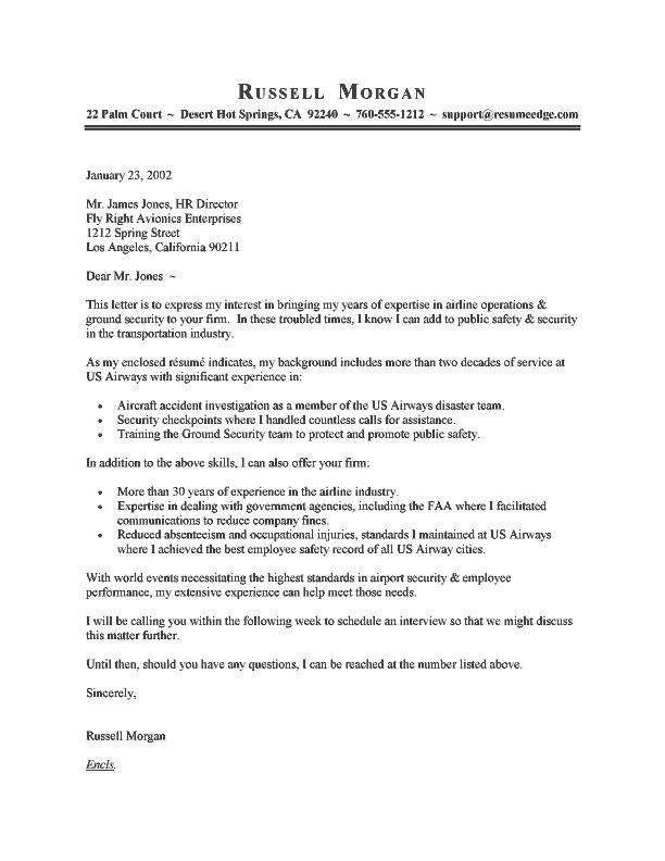 a good cover letter example - Writing A Cover Letter For A Resume