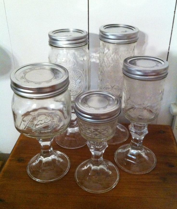 128 best images about ramekins mason jar on pinterest blackberry peach cobbler jars and masons - Mason jar goblets ...