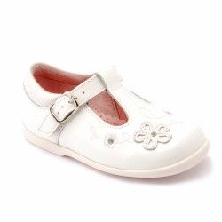 White Patent Girls First Walking Shoes