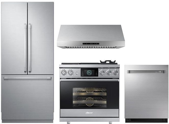 Dareradwrh84 4 Piece Kitchen Appliances Package With French Door Refrigerator Dual Fue Kitchen Appliance Packages Kitchen Appliances Kitchen Appliances Luxury