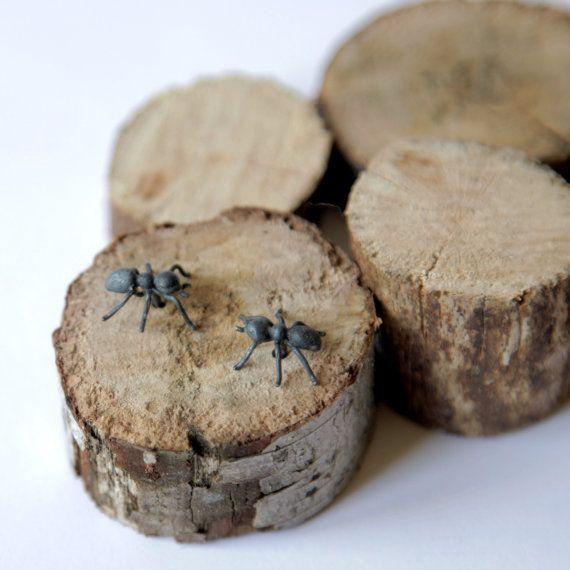 Ameisen im oxidiertes Silber Ohrringe