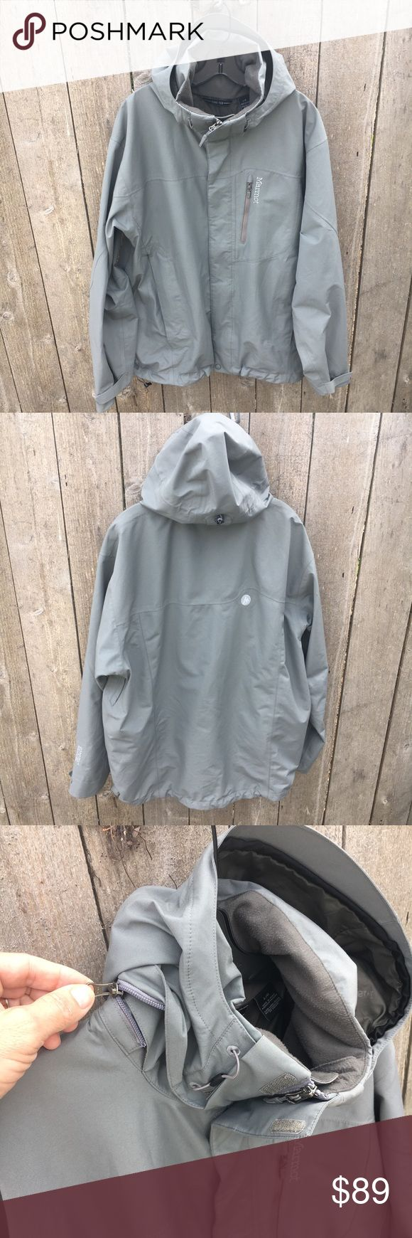 Flash Sale 🔥 Marmot Goretex Performance Shell Great ski or snowboard jacket with Gore-Tex fabric for top of the line waterproofing.  - Removable hood - armpit vents - powder skirt  Perfect condition.  All offers considered! Marmot Jackets & Coats Ski & Snowboard