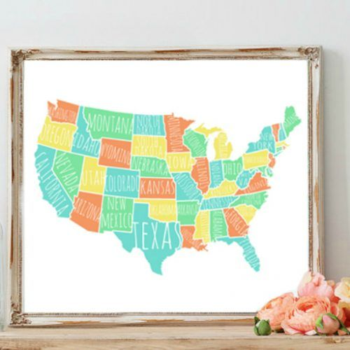 The Best Usa States Names Ideas On Pinterest Country Name - Us state names map