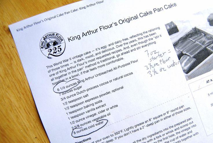 Adding Sourdough to a Recipe via @kingarthurflour